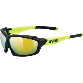 UVEX sportstyle 710 Glasses black mat yellow